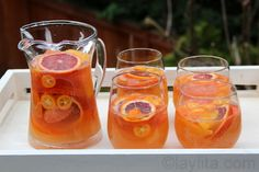 Citrus Moscato Sangria Yield: 6-8 1 grapefruit, peeled and cut into ...