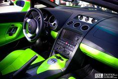 Lamborghini Gallardo spyder Lime Green and black custom interior