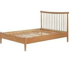 Buy Heart of House Dorset Spindle Double Bed Frame - Oak at Argos.co.uk, visit Argos.co.uk to shop online for Bed frames, Beds, Bedroom furniture, Home and garden