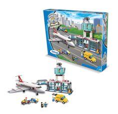 0599.7 - Blocos de Encaixe Embarque Imediato Aeroporto   Contém 791 peças   Faixa Etária: +6 anos   Medidas: 61,5 x 9 x 46 cm   Jogos e Brinquedos   Xalingo Brinquedos   Crianças