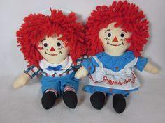 "Raggedy Ann and Andy Plush Set Dolls 9"" #Unbranded #Dolls"