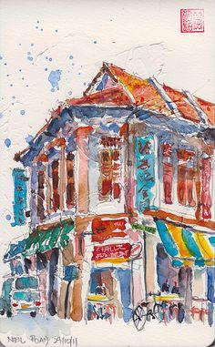 Duxton Sketchwalk 29-10-2011 | Flickr - Photo Sharing!