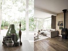 Living room vignette in a Danish home Exterior Design, Interior And Exterior, Rearrange Room, Wooden Flooring, Wood Colors, Decoration, Living Room Decor, House Design, Denmark