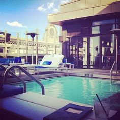 Heated year-round. #Rooftop #Pool