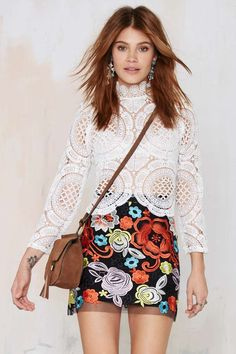 Nasty Gal Rosanna Lace Skirt - Skirts | Skirts