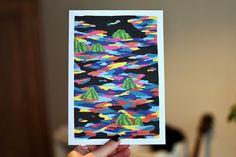 Ce mois-ci @_laho nous entraîne dans un monde rempli de gelées multicolores  Ça vous plait ?  #MomongaMoment #print #laho #illustration #cards #postcards #sendlove