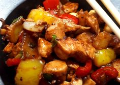 Thai Recipes, International Recipes, Wok, Chicken Wings, Food And Drink, Chinese, Meat, Dinner, Kitchen
