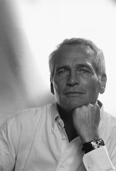 Paul Newman wearing, what else, a Rolex Daytona now referred to as the Newman Daytona