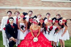 #Quinceanera photo in masks
