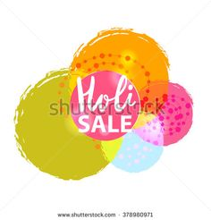 Happy Holi sale, Holi sale background - stock vector