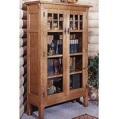 Arts and Crafts Bookcase Plan Woodworking Plan
