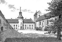 Oxholm Slot og Gods på Øland ved Limfjorden 5 km sydøst for Brovst.1899