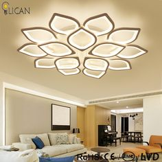 Lower Price with Nordic Led Ceiling Chandelier Lighting Brown Fashional Super Thin Modern For Living Room Circle Rings Led For Indoor Lighting Possessing Chinese Flavors Lights & Lighting Ceiling Lights & Fans