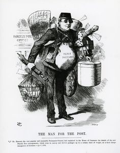 130 years of the parcel post Newspaper Cartoons, Post Box, Post Office, Caption, Distance, Boxes, Vans, Popular, Crates