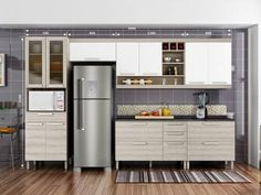 Cozinha Compacta Nesher Gold 3 com Balcão - 6 Nichos 12 Portas 5 Gavetas com as melhores condições você encontra no Magazine Edmilson07. Confira!