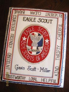 Eagle Scout Court of Honor cake. Love this design!