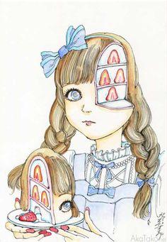 """Funny Girl #103"" painting by Shintaro Kago"