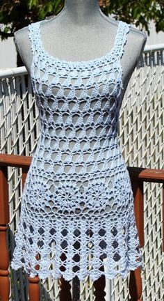 Best 11 Beach dress / Cover up Natural color. Hand Made from Cotton yarn 30 length . One of A Kind Enjoy the Sun and the Ocean breeze. Ready to Ship in one business day Best quality of handwork from best quality of yarn Crochet Beach Dress, Crochet Summer Dresses, Crochet Lace, Dress Beach, Dress Summer, Macrame Dress, Boho Dress, Fringe Dress, Crochet Festival Dresses