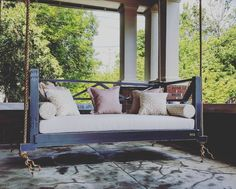 Seaside Bed Swing. Hanging Porch ...