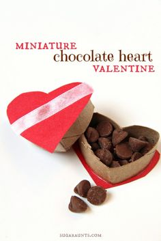 Make a miniature Valentines Day heart box of chocolates from a cardboard tube. This super cute craft is based on the book, One Zillion Valentines.