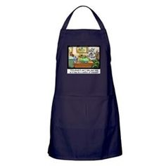 Fluffy Cohen dark #apron by @LTCartoons $28 #cafepress #humor #gift #lawyer #cats #kitchen