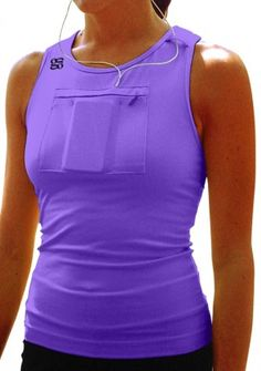 I need this!  So much better than the arm bands... and actually quite clever