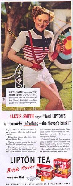 Reklame mit Bogensportmotiven: Lipton Tea | Deutscher Bogensportverlag