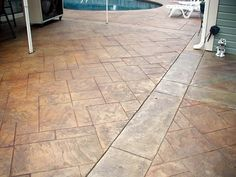 Random Stone stamped concrete pattern by Baltz and Sons