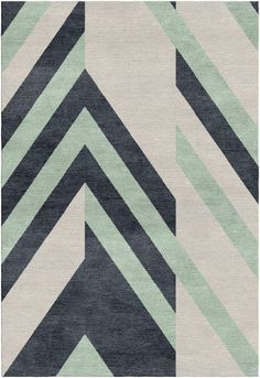 Diagonals composition in white, mint and blue Floor Patterns, Wall Patterns, Textile Patterns, Carpet Tiles, Rugs On Carpet, Carpets, Textured Carpet, Patterned Carpet, Modern Carpet