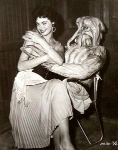 Gloria Talbott on the set of I Married a Monster from Outer Space, 1958.