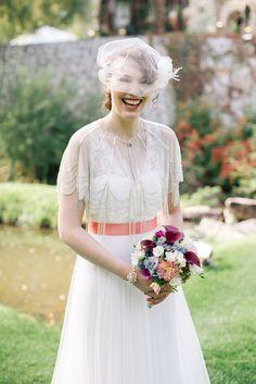 BHLDN Vintage-Inspired Wedding Dress | Flowers – Stems Flower Shop | Beauty Brands Salon | Gown – BHLDN http://knot.ly/6491BKgn3 | Sarah Rose Burns Photography http://knot.ly/6492BKgnO