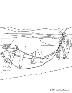 Famer Plowing Coloring Page Amazing Way For Kids To Discover Job More Original Content