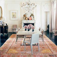 modglamguide:  L Wren Scott's Paris dining room