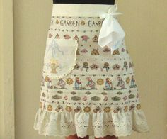 My Vesties Wish List Item - Half Apron Womens Retro Apron with Pocket and Ruffle