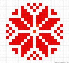 tapestry crochet pattern or Slavic perler bead pattern Xmas Cross Stitch, Cross Stitch Charts, Cross Stitch Designs, Cross Stitching, Cross Stitch Patterns, Folk Embroidery, Cross Stitch Embroidery, Bead Loom Patterns, Beading Patterns