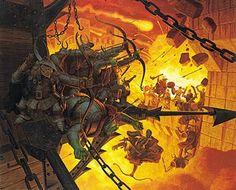 Tolkien Calendar Sep 1977 Siege of Minas Tirith, Brothers Hildebrandt
