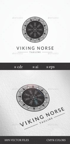 """Viking/Norse """"Helm of Awe"""" Symbol Logo Design Template - Symbols Logo Template Vector EPS, Vector AI, CDR. Download here: http://graphicriver.net/item/vikingnorse-helm-of-awe-symbol-logo-template/16388894?ref=yinkira"""