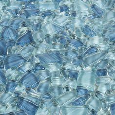 Accent: Paradise Bay Pebble Glass Mosaic - 12 x 12 - 100550607 Beach Bathrooms, Small Bathroom, Bathroom Ideas, Master Bathroom, Stone Mosaic, Mosaic Glass, Glass Art, Mosaic Tiles, Stained Glass