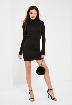 We all need a fave lbd to vamp up our weekend game and this bodycon dress is at the top of our lust have list - featuring a lace neck and long sleeves.