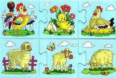 schiwotnie i detönischi-puzzle - Aleiga V. Farm Animals, Animals And Pets, Colegio Ideas, Abc Crafts, Montessori, Farm Theme, Book Illustration, Illustrations, Fun Games