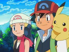 Screenshot from Pokemon DP. Pokemon People, Ash Pokemon, Pokemon Ships, Pokemon Games, Pikachu, Christmas Pokemon, Dragon Ball Z, Ash And Dawn, Pokemon Ash And Serena