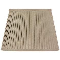 Gray Oval Knife Pleat Linen Shade 10x14x10 (Spider) · Small Table ...