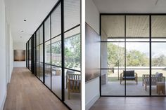 steel windows, exaggerated overhang