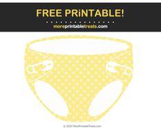 Polka Dot Pattern Baby Diaper Cut Out Baby Shower Printables, Free Printables, Program Design, Baby Patterns, Polka Dots, Clip Art, Baby Models, Free Printable, Polka Dot