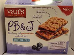 Crazy Food Dude Review: Van's Natural Foods PB&J Blueberry and Peanut Butter Sandwich Bars