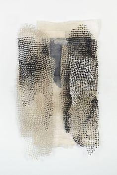 ^Jennifer Davies - Woven Pieces - bird netting and handmade paper