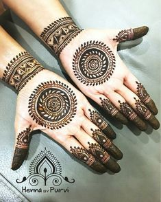 Best Charming Henna Design on Palm Picture Gallery with Beautiful Pattern for Gi. - Best Charming Henna Design on Palm Picture Gallery with Beautiful Pattern for Girl - Indian Henna Designs, Latest Bridal Mehndi Designs, Mehndi Designs For Girls, Wedding Mehndi Designs, Best Mehndi Designs, Latest Mehndi, Henna Tattoo Designs, Mehandi Designs, Circle Mehndi Designs
