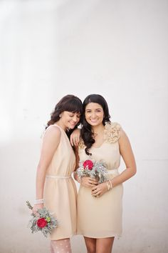 neutral bridesmaid dresses   Kat Harris; my sister would hate me for this!!! haha