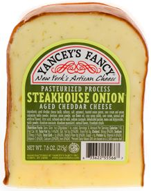 Steakhouse Onion Cheddar- A New York State Gold Medal award winning kick for all you onion lovers out there.  With a strong flavor and an even stronger bite, this is sure to leave a lasting impression to anyone looking for a little extra.