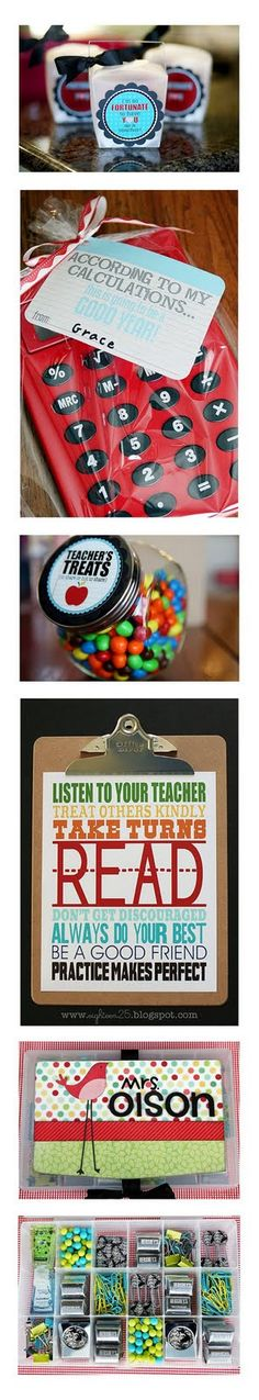 cute back to school teacher gifts